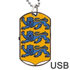 Lesser Arms of Estonia Dog Tag USB Flash (Two Sides)