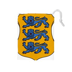 Lesser Arms of Estonia Drawstring Pouches (Medium)