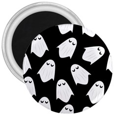 Ghost Halloween Pattern 3  Magnets