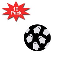 Ghost Halloween Pattern 1  Mini Buttons (10 Pack)