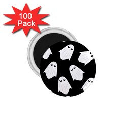 Ghost Halloween Pattern 1 75  Magnets (100 Pack)