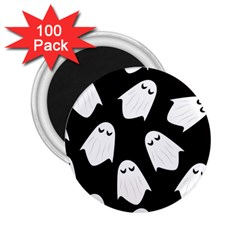 Ghost Halloween Pattern 2 25  Magnets (100 Pack)