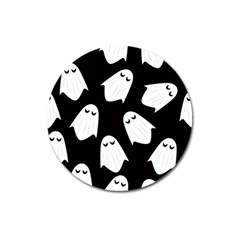 Ghost Halloween Pattern Magnet 3  (round)