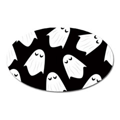Ghost Halloween Pattern Oval Magnet