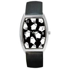 Ghost Halloween Pattern Barrel Style Metal Watch