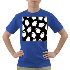 Ghost Halloween Pattern Dark T-Shirt