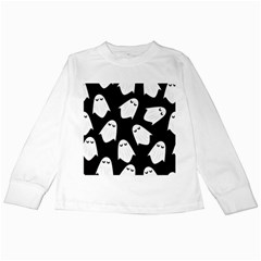 Ghost Halloween Pattern Kids Long Sleeve T-Shirts