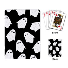 Ghost Halloween Pattern Playing Card
