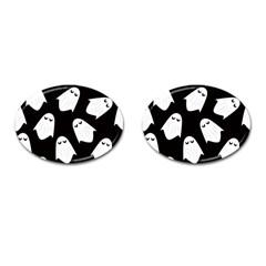 Ghost Halloween Pattern Cufflinks (oval)