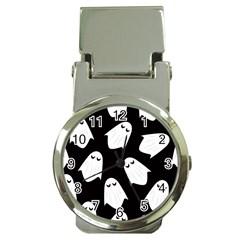 Ghost Halloween Pattern Money Clip Watches