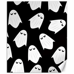 Ghost Halloween Pattern Canvas 8  X 10