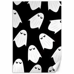 Ghost Halloween Pattern Canvas 12  X 18