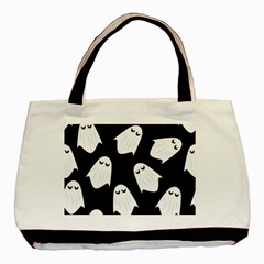 Ghost Halloween Pattern Basic Tote Bag (Two Sides)
