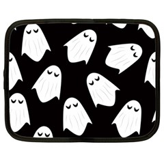 Ghost Halloween Pattern Netbook Case (large)