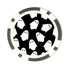 Ghost Halloween Pattern Poker Chip Card Guard (10 Pack)