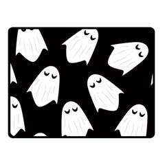 Ghost Halloween Pattern Fleece Blanket (small)