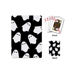 Ghost Halloween Pattern Playing Cards (mini)