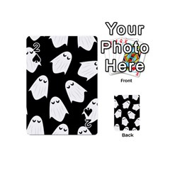 Ghost Halloween Pattern Playing Cards 54 (mini)