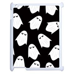 Ghost Halloween Pattern Apple iPad 2 Case (White)