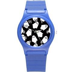 Ghost Halloween Pattern Round Plastic Sport Watch (s)