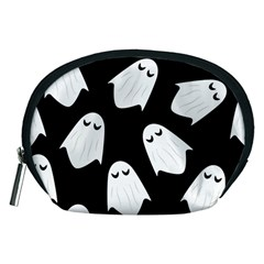 Ghost Halloween Pattern Accessory Pouches (medium)