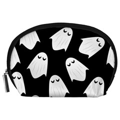 Ghost Halloween Pattern Accessory Pouches (large)