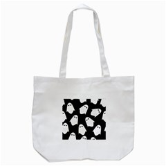Ghost Halloween Pattern Tote Bag (white)