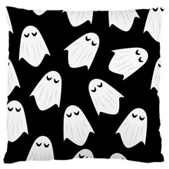 Ghost Halloween Pattern Large Flano Cushion Case (two Sides)