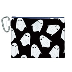 Ghost Halloween Pattern Canvas Cosmetic Bag (xl)