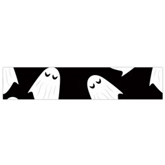 Ghost Halloween Pattern Flano Scarf (Small)