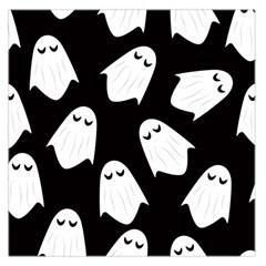 Ghost Halloween Pattern Large Satin Scarf (Square)