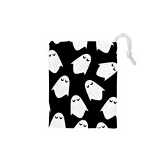 Ghost Halloween Pattern Drawstring Pouches (xs)