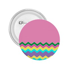 Easter Chevron Pattern Stripes 2 25  Buttons