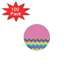 Easter Chevron Pattern Stripes 1  Mini Buttons (100 Pack)