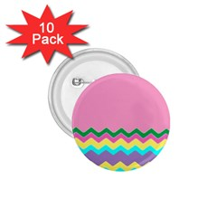 Easter Chevron Pattern Stripes 1 75  Buttons (10 Pack)