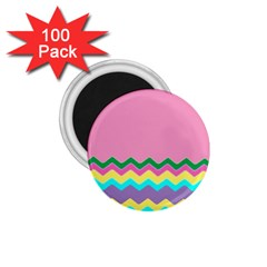 Easter Chevron Pattern Stripes 1 75  Magnets (100 Pack)