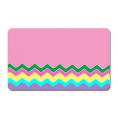 Easter Chevron Pattern Stripes Magnet (rectangular)