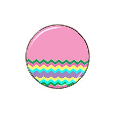 Easter Chevron Pattern Stripes Hat Clip Ball Marker