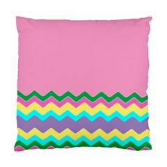 Easter Chevron Pattern Stripes Standard Cushion Case (one Side)