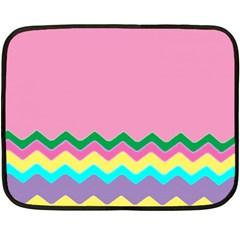 Easter Chevron Pattern Stripes Double Sided Fleece Blanket (Mini)
