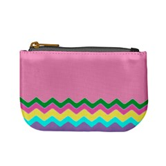 Easter Chevron Pattern Stripes Mini Coin Purses