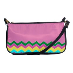 Easter Chevron Pattern Stripes Shoulder Clutch Bags