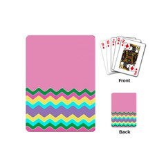 Easter Chevron Pattern Stripes Playing Cards (mini)