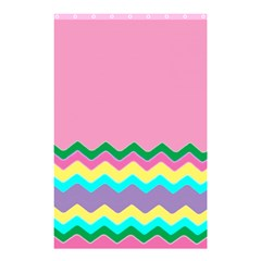 Easter Chevron Pattern Stripes Shower Curtain 48  X 72  (small)