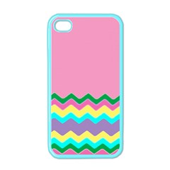 Easter Chevron Pattern Stripes Apple Iphone 4 Case (color)