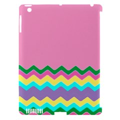 Easter Chevron Pattern Stripes Apple Ipad 3/4 Hardshell Case (compatible With Smart Cover)