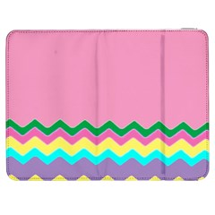 Easter Chevron Pattern Stripes Samsung Galaxy Tab 7  P1000 Flip Case