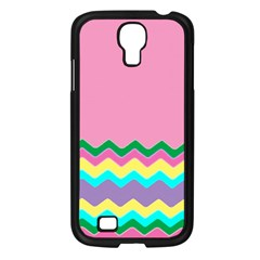 Easter Chevron Pattern Stripes Samsung Galaxy S4 I9500/ I9505 Case (black)