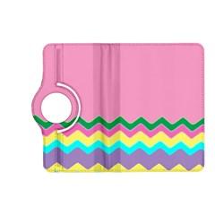 Easter Chevron Pattern Stripes Kindle Fire HD (2013) Flip 360 Case