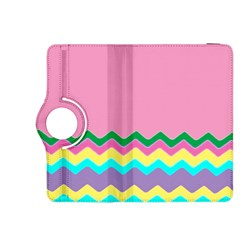 Easter Chevron Pattern Stripes Kindle Fire Hdx 8 9  Flip 360 Case